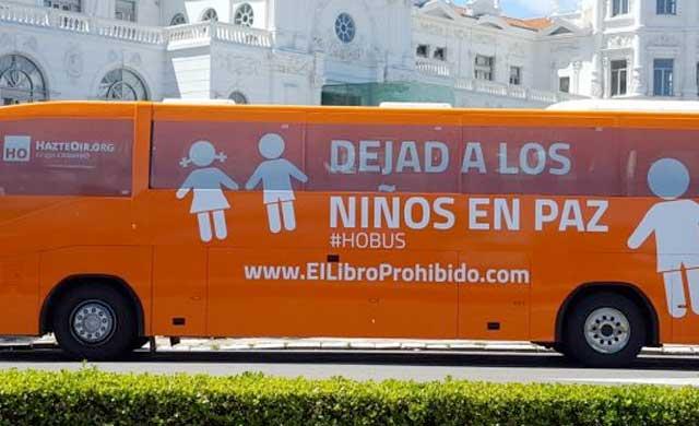El #HOBus llega este jueves a Toledo con el lema 'Dejad a los niños en paz'