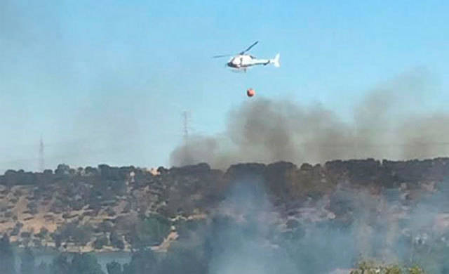 Controlado el incendio de San Roman de los Montes (IMÁGENES Y VÍDEO)