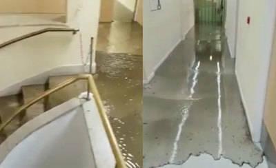 Una tromba de agua inunda el hospital de Toledo (VÍDEOS)