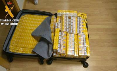 Incautan tabaco ruso por valor de 18.582 euros en Santa Olalla