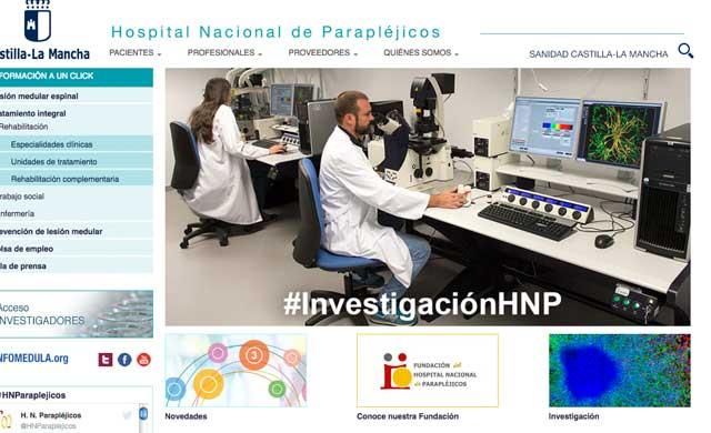 El Hospital de Parapléjicos estrena web con un diseño actual e intuitivo