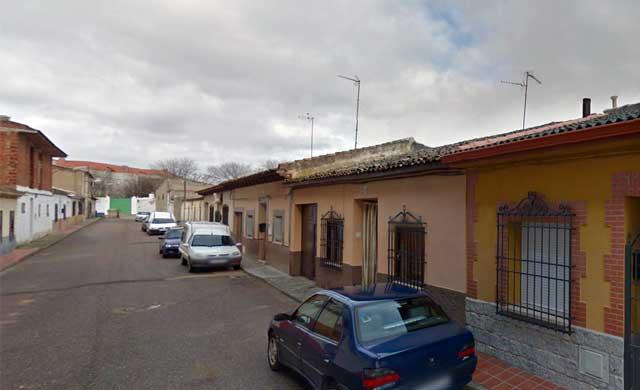 C/ San José, donde se ha producido el incendio en Corral de Almaguer (Toledo)