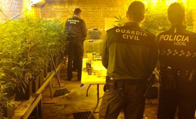 Dos detenidos por tener en un garaje casi 3.000 plantas de marihuana