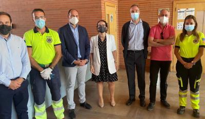 Instalan una unidad móvil de vacunación en el campus universitario de Talavera