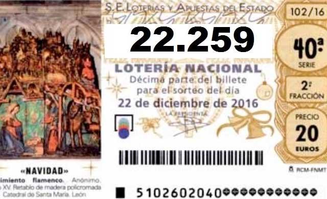 El 22.259 deja un 5º Premio de la Lotería de Navidad en Talavera