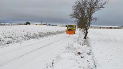 NIEVE | El Gobierno regional sigue actuando en las carreteras para evitar accidentes
