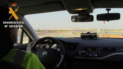 Detectan a una mujer circulando a 159 km/h por una vía autorizada a 70 km/h