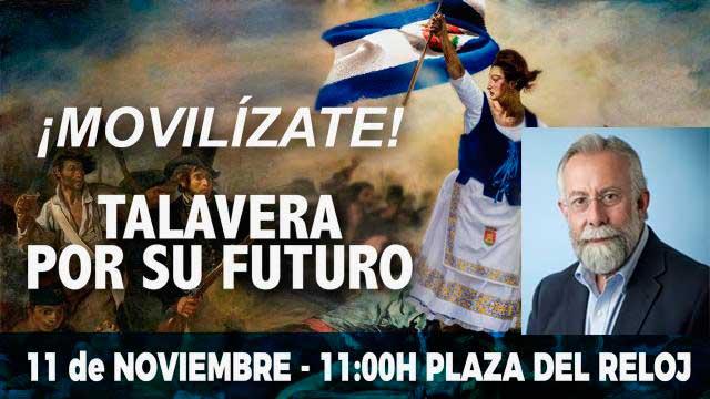 La manifestación se llevará a cabo el 11 de noviembre bajo el lema 'Talavera por su Futuro'
