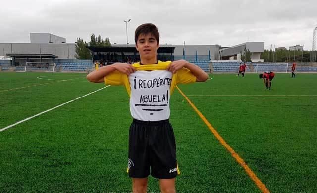 Precioso gesto: un cadete del Ciudad de Talavera dedica un gol a su abuela