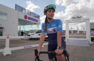 La historia de María Salvo que tuvo parada en Talavera con Alberto Contador