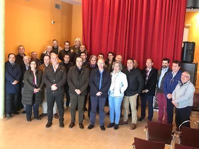 Gregorio preside la reunión comarcal de la Sierra de San Vicente