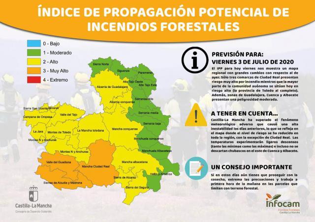 ACTUALIDAD   Talavera y su comarca, en 'riesgo alto' por peligro de incendios forestales