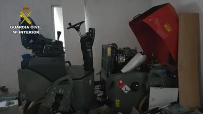 Tres detenidos por robar maquinaria y herramientas valoradas en 330.000 euros