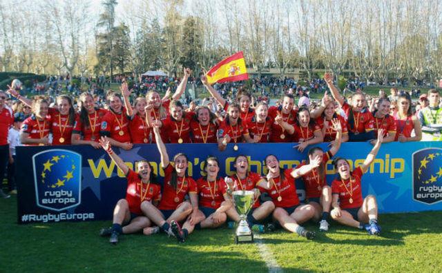 La leona talaverana Isabel Rico y la Selección Española ganan el séptimo Europeo de rugby