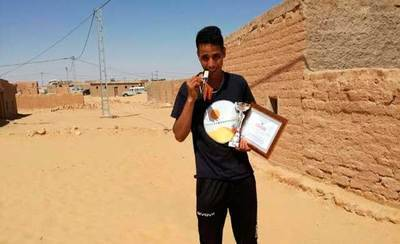 Lehsen Sidahme, saharaui y veleño por adopción, cuarto en el Maratón del Sahara