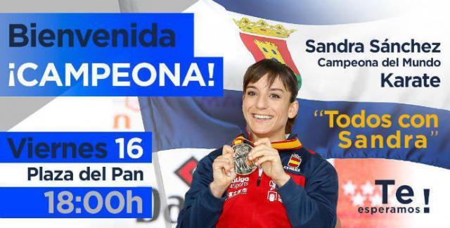 'Todos con Sandra Sánchez', este viernes en la Plaza del Pan