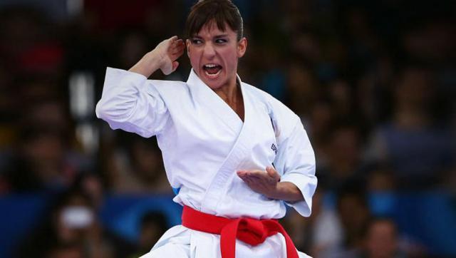 La karateca talaverana Sandra Sánchez, a la final del europeo de katas