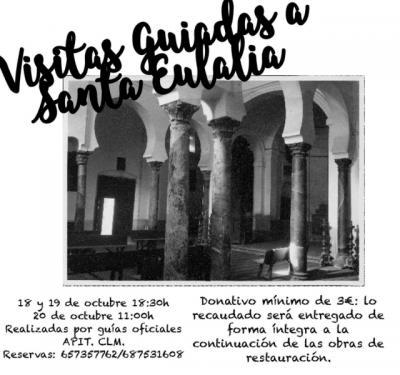 Apit ofrece rutas guiadas para sufragar los trabajos de restauración de la iglesia toledana de Santa Eulalia