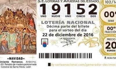 19.152, quinto premio, cae en Toledo, Guadalajara, Ciudad Real y Cuenca