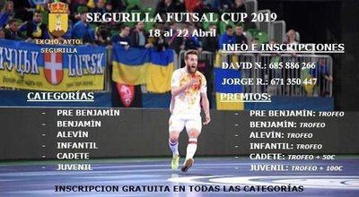 ¿Te gusta el fútbol sala? apúntate a la Segurilla Futsal Cup 2019