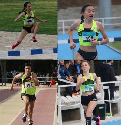 4 atletas de UDAT, con la Selección de CLM en el Nacional Sub16