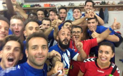 Primera victoria y primer 'selfie' del vestuario del CF Talavera