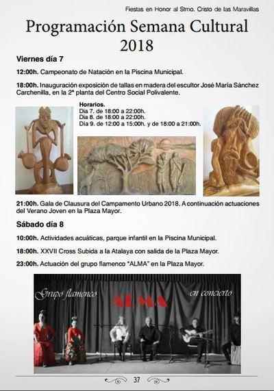 Activa Semana Cultural en Segurilla del 7 al 12 de septiembre