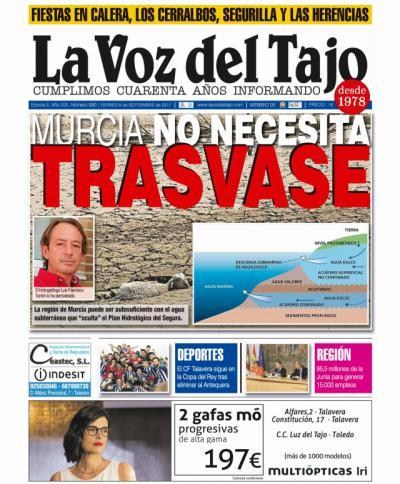 Portada septiembre | Las aguas subterráneas de Murcia -y las granjas porcinas a 8 kilómetros-