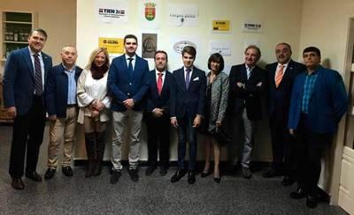 Serrano y Pérez, en la entrega de Premios del Club Taurino Talaverano