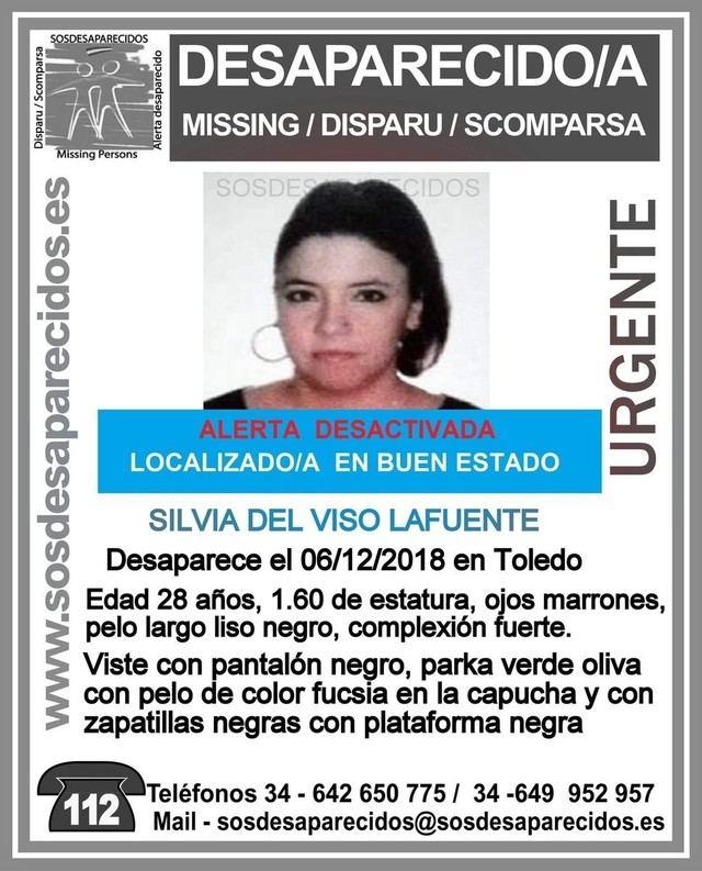 Localizan en buen estado a la chica de 28 años de Toledo desaparecida hace más de una semana