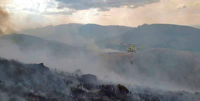 Dos incendios en Serranillos y uno en Pedro Bernardo por rayos