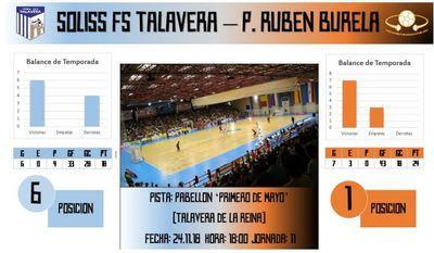 El Soliss FS Talavera quiere ser el primero en 'hincar el diente' al líder Pescados Rubén Burela