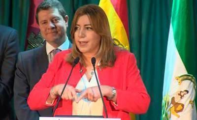 García Page recibe a Susana Díaz en Azuqueca de Henares