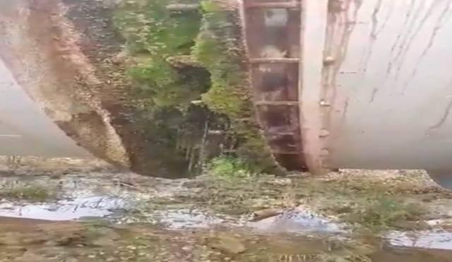 """Así se pierde el agua del trasvase """"ilegal"""" con los embalse de cabecera del Tajo secos (VÍDEO)"""