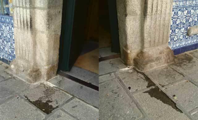 La Basílica del Prado se convierte en un urinario público (IMÁGENES)
