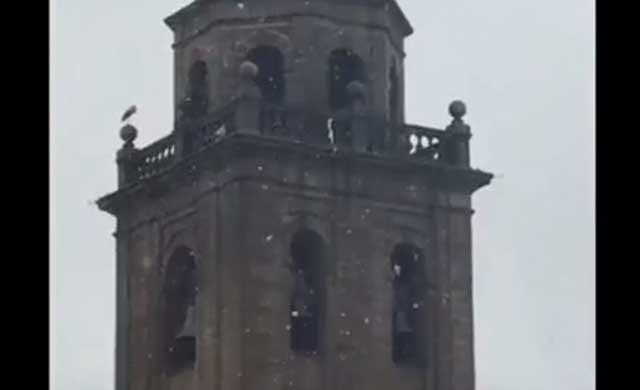 La nieve hace acto de presencia en Talavera de la Reina