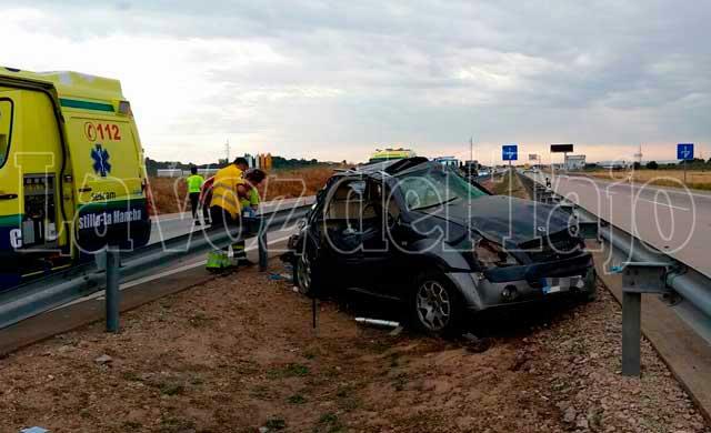 Dos heridos tras una salida de vía en la A-5 a la altura de Cazalegas