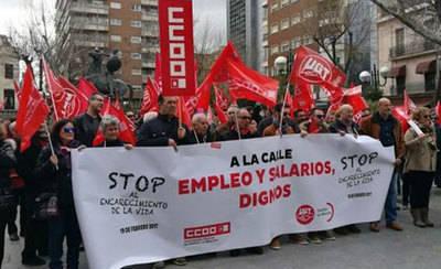 CCOO y UGT no asistirán a la asamblea abierta en Talavera