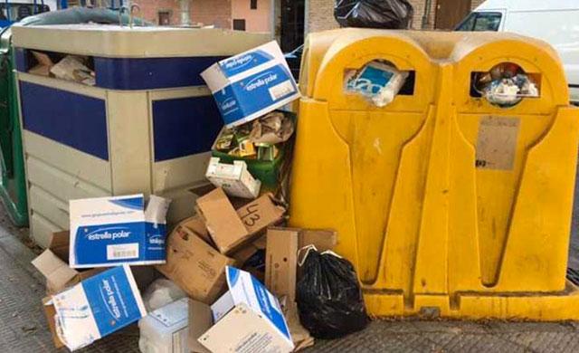 La avería de dos camiones, el motivo de los problemas de basura en Talavera