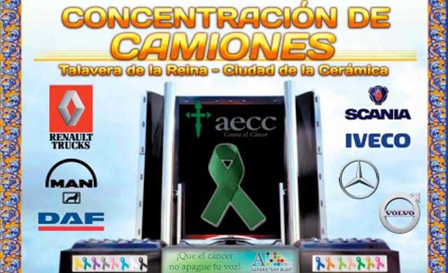 Inaugurada la concentración de camiones 'Ciudad de Talavera', a favor de la AECC
