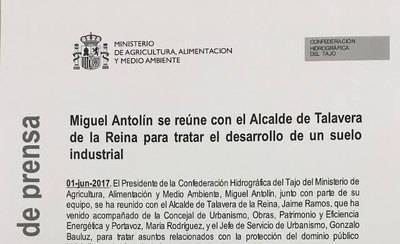 Ramos habló de Torrehierro y la mosca negra en su visita a la Confederación del Tajo