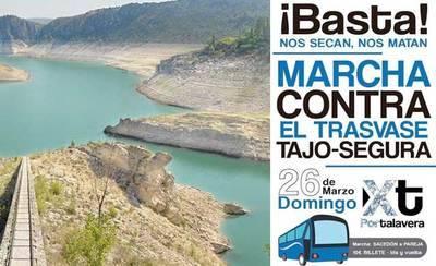 XTalavera asistirá a la 'Marcha contra el Trasvase Tajo-Segura' y pide colaboración