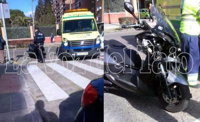 Un herido en un choque entre un ciclomotor y un turismo en Talavera