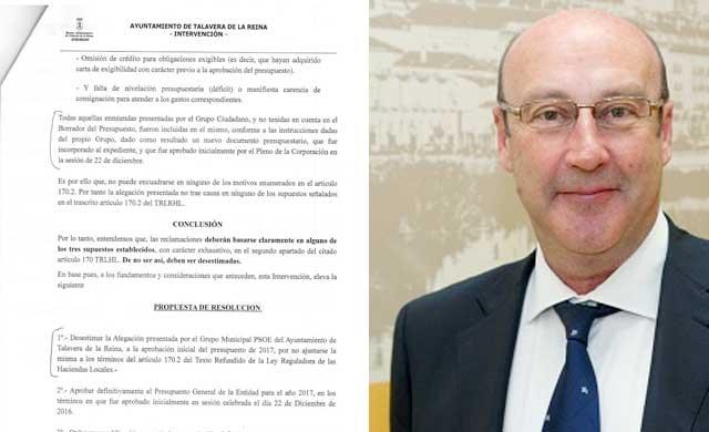 Castillo: 'Las alegaciones de C's sí están en los presupuestos'