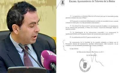 """Gutiérrez acusa a Castillo de """"mentir' y 'mostrar documentos para engañar a los talaveranos"""""""
