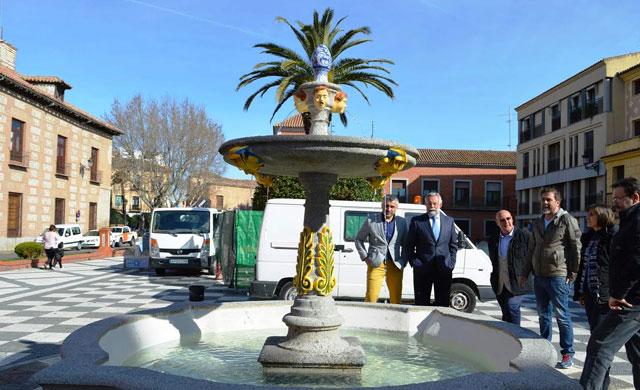 La fuente de la plaza del Pan de Talavera ya está restaurada