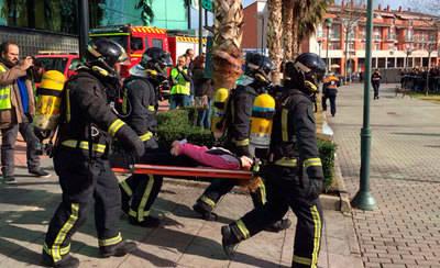 Exitoso simulacro de incendio en Cinébora Talavera