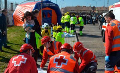Talavera acoge un simulacro de incendio con múltiples heridos