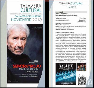 AGENDA | Estas son las actividades culturales previstas para el mes de noviembre en Talavera