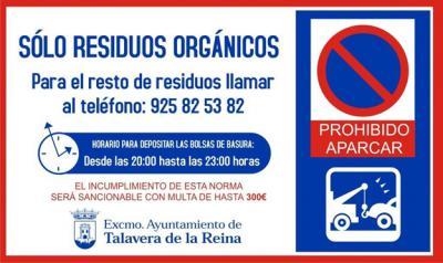La Policía Local de Talavera multa a dos personas por tirar la basura fuera de horario